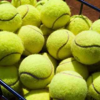 Tennisles in de zomer