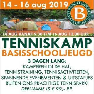 Tenniskamp 14 t/m 16 augustus