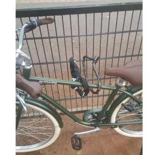 Fietsen in fietsenrek