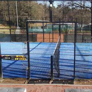 vrij tennis en padel is niet toegestaan