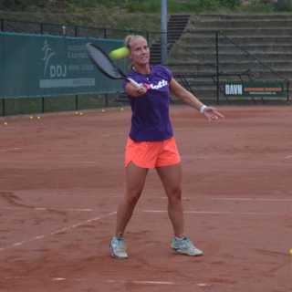 Tennissen met Richel Hogenkamp