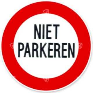 Niet parkeren in de berm